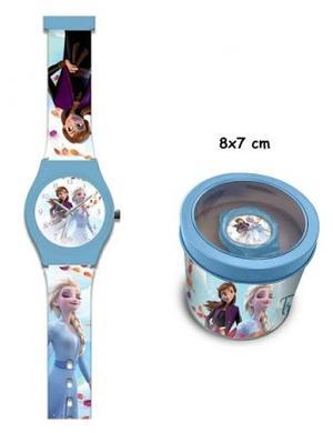 Frozen 2 - orologio analogico c/ scatola metallo