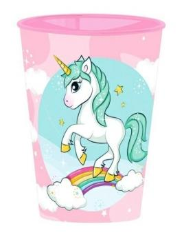 Unicorno bicchiere in pp