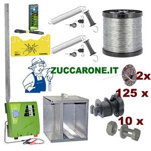 Kit recinto elettrico per cinghiali, a batteria 12v per 500 metri per tondini di ferro