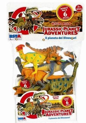 Dinosauri Busta da 6 pezzi assortiti