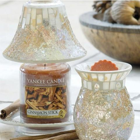 Linea Gold & Pearl Crackle Yankee Candle