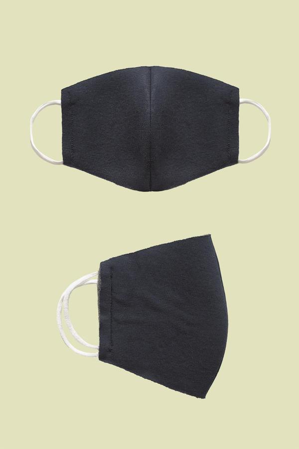 Coppia di mascherine blu in neoprene
