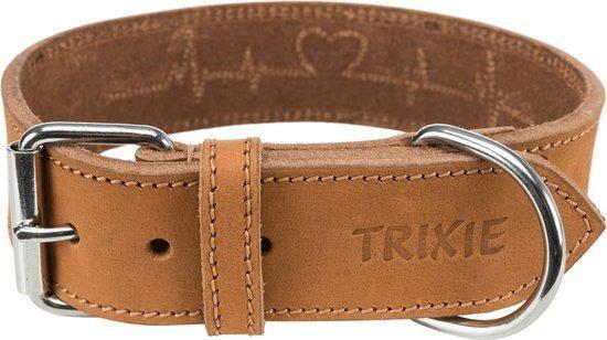 Trixie Rustic L Collare In Cuoio Per Cani Marrone Chiaro Regolabile 47-55cm