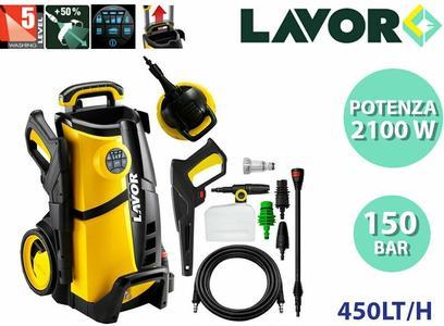 Idropulitrice Compatta ad Acqua Fredda 150 Bar 2100W Lavor LVR4 150 DIGIT + kit lavapavimento