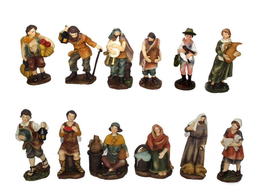 Set 12 Statuine del Presepe 12 cm