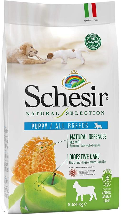 Schesir Natural Selection Puppy  Agnello 2 KG No Grain Monoproteico Per Cani Cuccioli