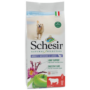 Schesir Natural Selection Adult Medium Large Manzo 2 KG Per Cani Grain Free