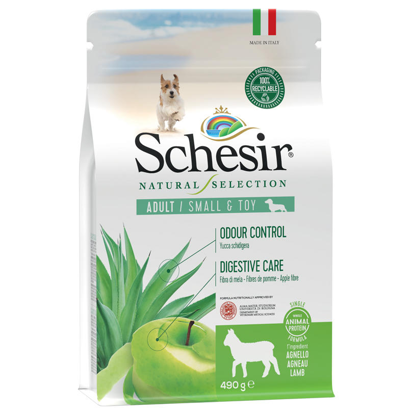 Schesir Natural Selection Adult Small e Toy Agnello 2 KG Per Cani Grain Free