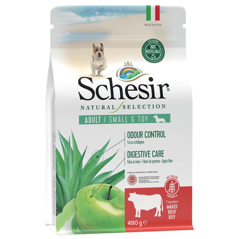 Schesir Natural Selection Adult Small e Toy Manzo 2 KG Per Cani Grain Free