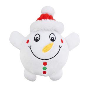 Peluche Natalizio 16 cm  Gioco Per Cani Pupazzo Di Neve Regalo Di Natale
