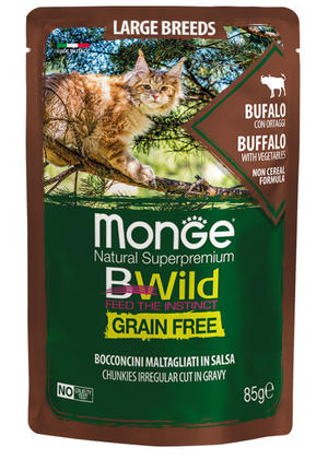 Gatto - Large Breeds Bufalo Bwild Monge Disponibile nei formati 85 - 100 gr
