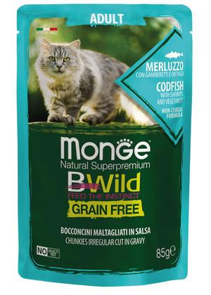 Gatto - Adult Merluzzo Bwild Monge Disponibile nei formati 85 - 100 gr