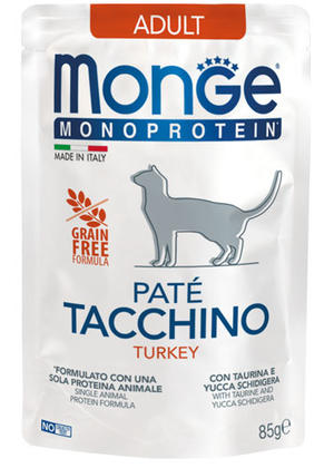 Gatto - Monoprotein Tacchino Monge 85 gr