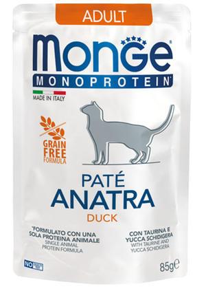 Gatto - Monoprotein Anatra Monge 85 gr