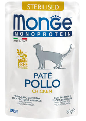 Gatto - Monoprotein Sterilised Pollo Monge 85 gr
