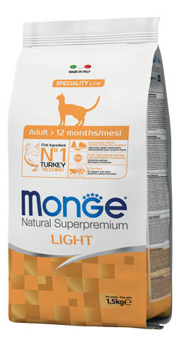 Gatto - Adult Light Tacchino Monge 1,5 kg
