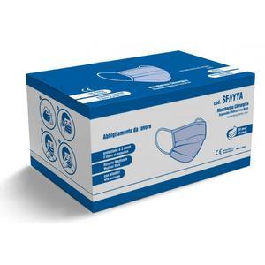 Mascherina chirurgica protettiva - 3 strati - Confezione 50 pezzi