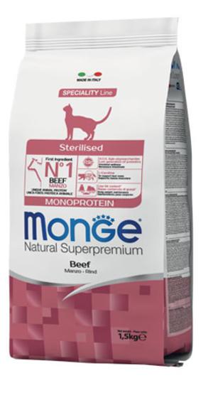 Gatto - Sterilised Monoprotein Manzo Monge 1,5 Kg