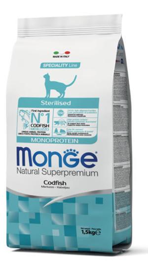 Gatto - Sterilised Monoprotein Merluzzo Monge 1,5 Kg