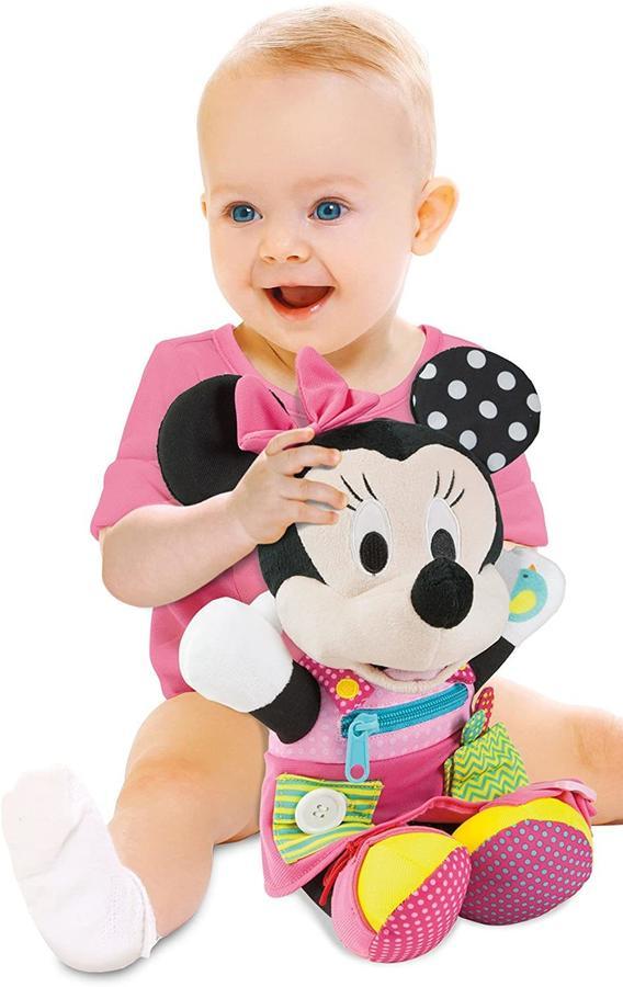 Baby Minnie - Peluche prime abilità - Clementoni 17195 - 12+ mesi