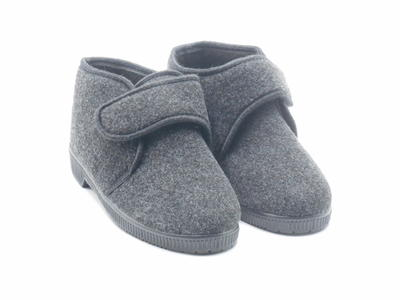 Terry R125 calde pantofole uomo antracite Terry