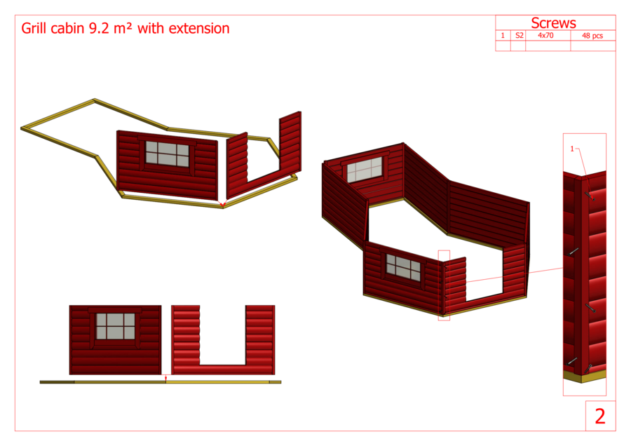 Kota esagonale con estensione Mod. Kirsi 9 + 3,5 - 45 mm