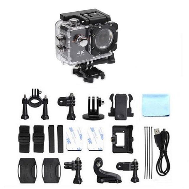 Action camera Go Pro 4k con kit completo