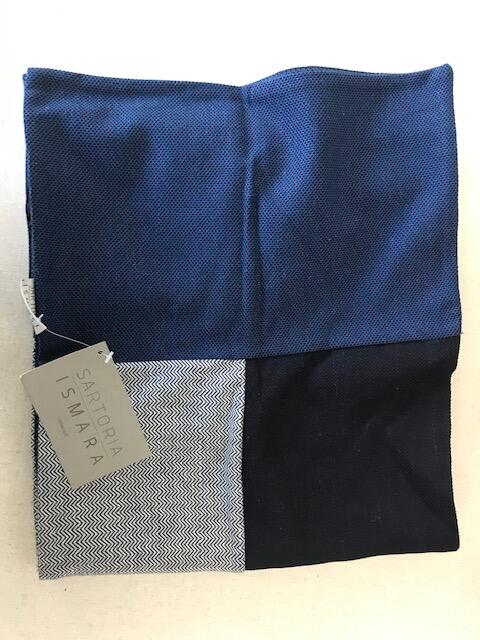 Sciarpa patchwork blu
