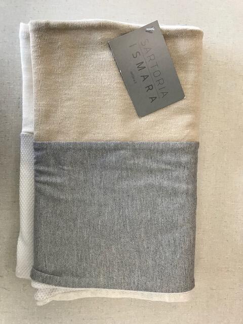 Sciarpa patchwork bianca