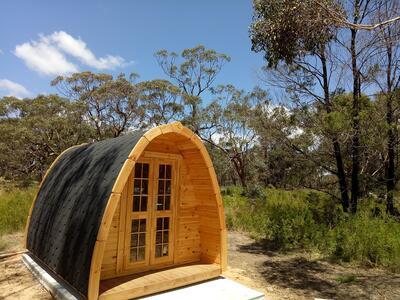 Glamping Pod  in legno di pino nordico Mod. Felicia 2,40 x 3,50 - 46mm
