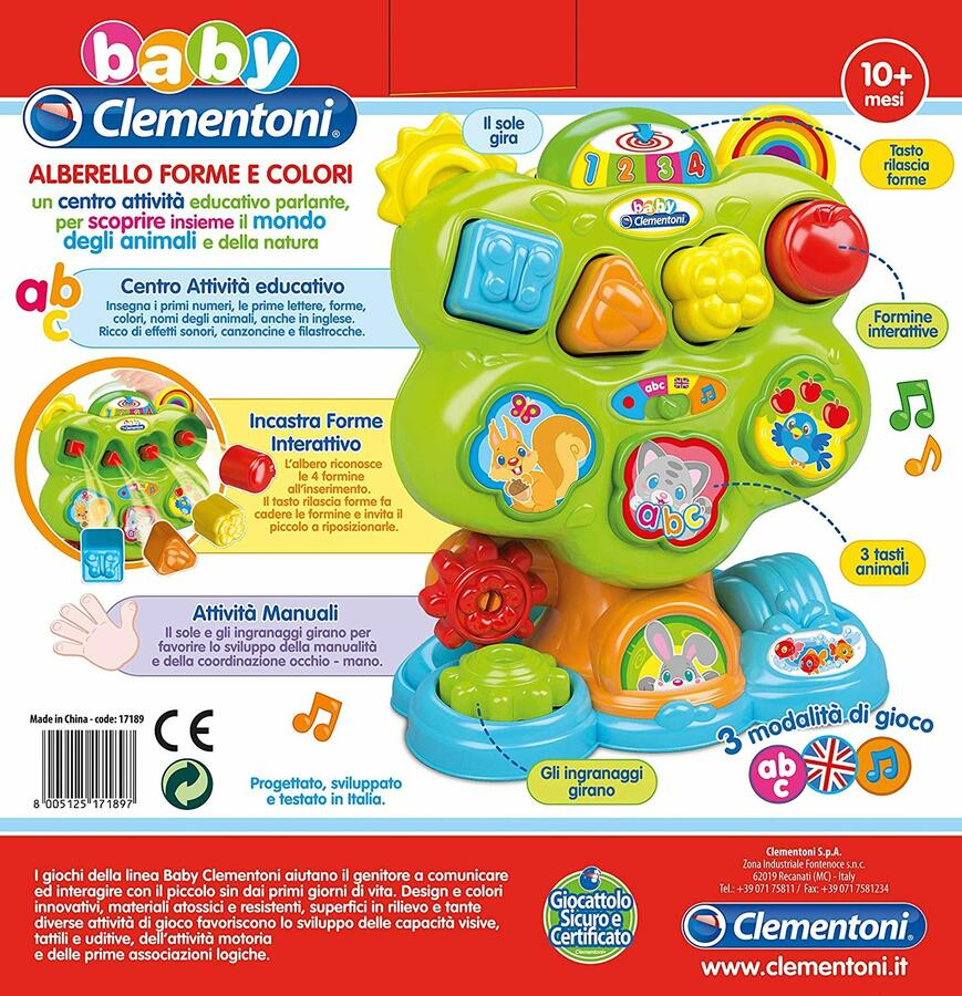 Alberello forme e colori - Clementoni 17189 - 10+ mesi