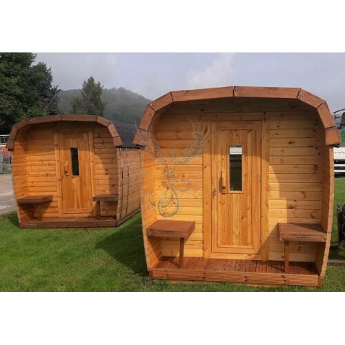 Glamping Bus in legno di pino nordico Mod. Maja 2,30 x 3,00 - 46mm