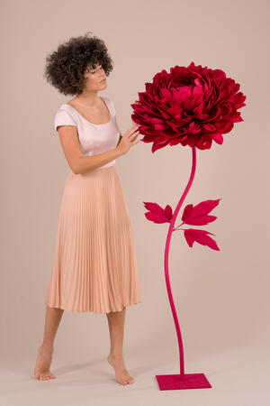 Paper Flowers Self-standing Collection - Peonia in carta  50 cm autoportante
