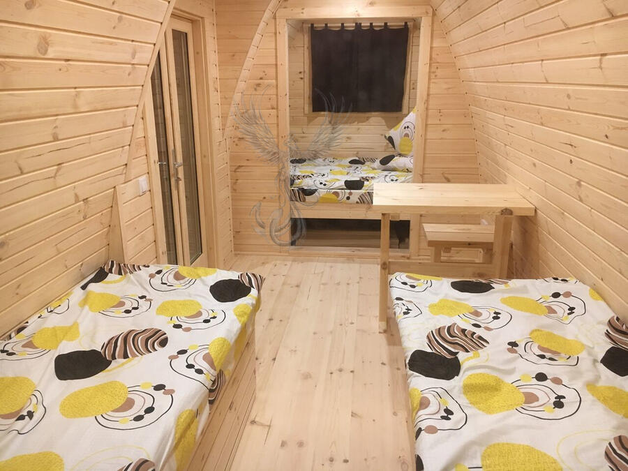 Glamping Pod Side Entry coibentato Mod. Lisa 2,40 x 6,00 - 126mm