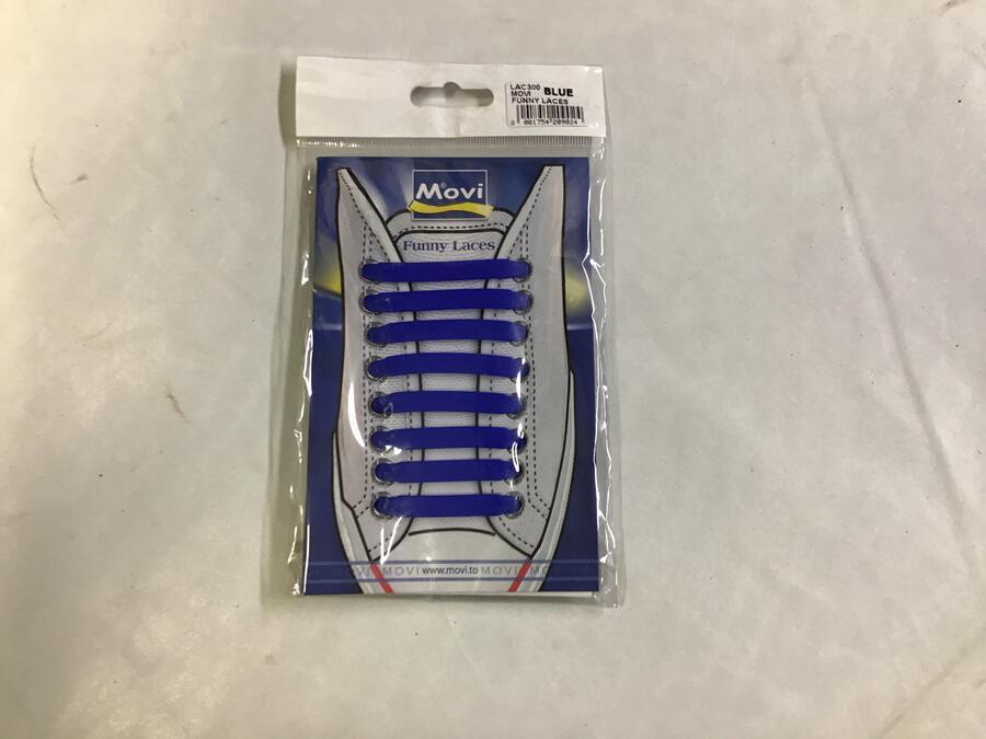 Lacci Silicone Blu