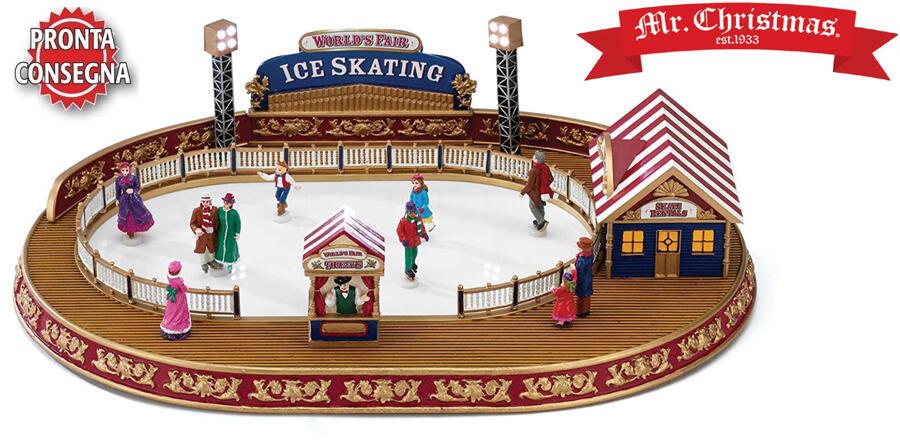 "Carillon ""Pista Ice Skating"" di Mr Christmas"