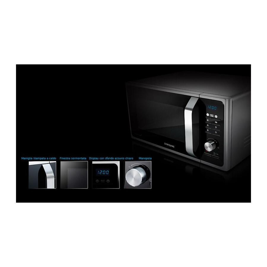 SAMSUNG FORNO MICROONDE MS23F301TAK 23LT 800W NERO