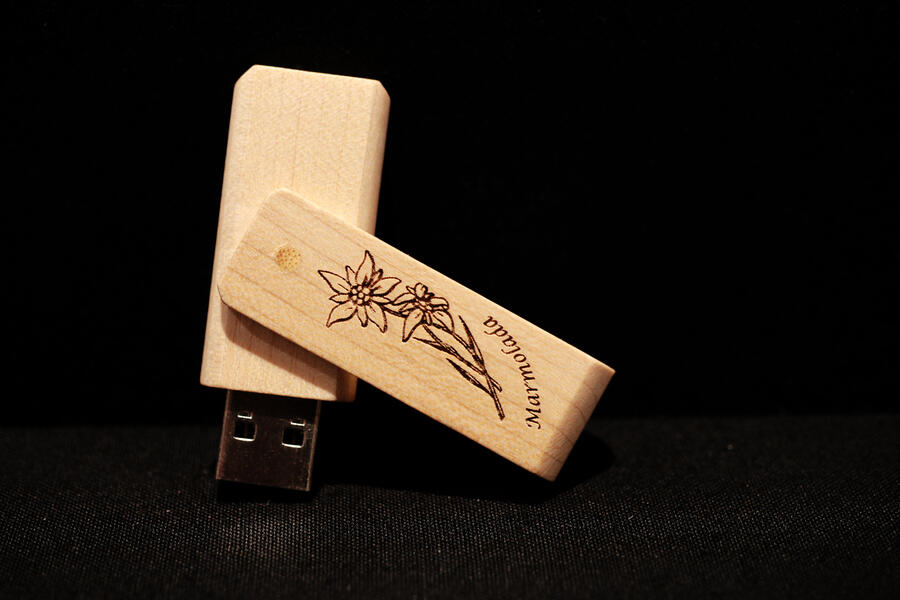 Chiavetta USB stella alpina