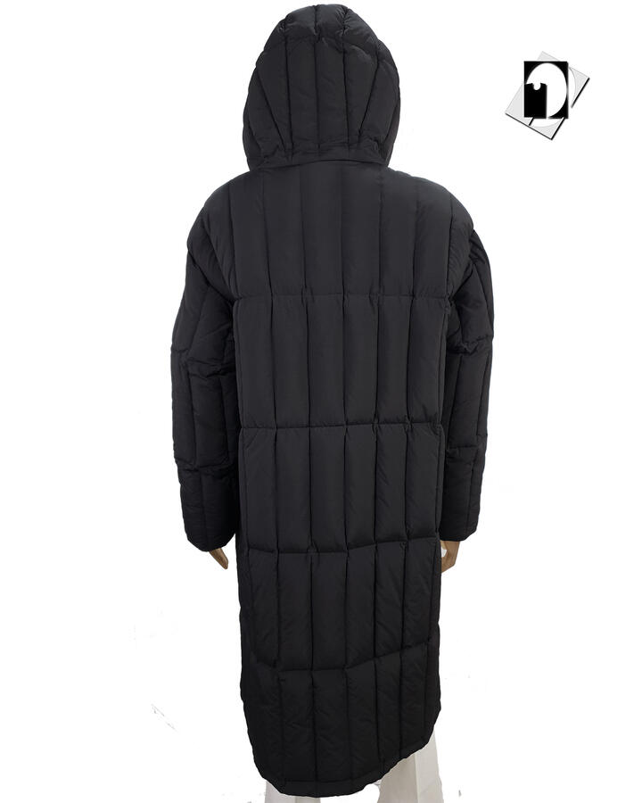 K-Way K111FZW Sidoine Thermo Heavy Quilted black pure