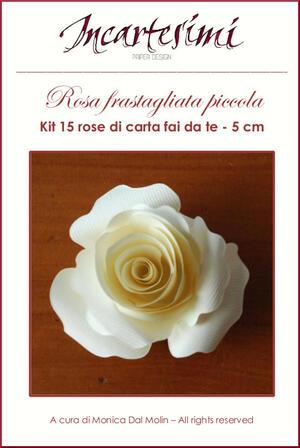Kit fai da te 15 rose di carta Ø 5 cm