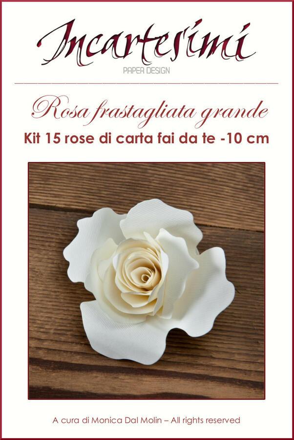 Kit fai da te 15 rose di carta Ø 10 cm