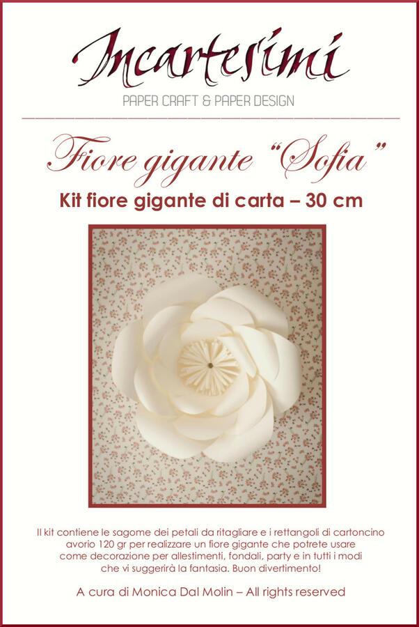 """KIT fai da te fiore gigante di carta  """"Sofia"""" Ø 30-35 cm"""
