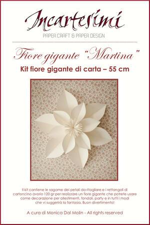 """KIT fai da te fiore gigante di carta """"Martina"""" Ø 55 cm"""