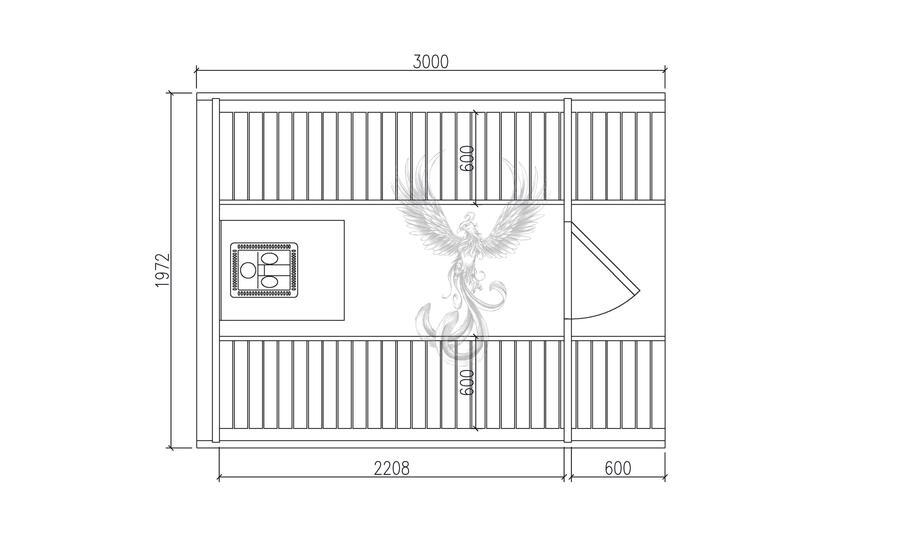 Glamping Sauna Barile in legno di pino nordico Mod. Emma 3,0 m x Ø 1,97 m - 46mm – Riscaldatore elettrico incluso