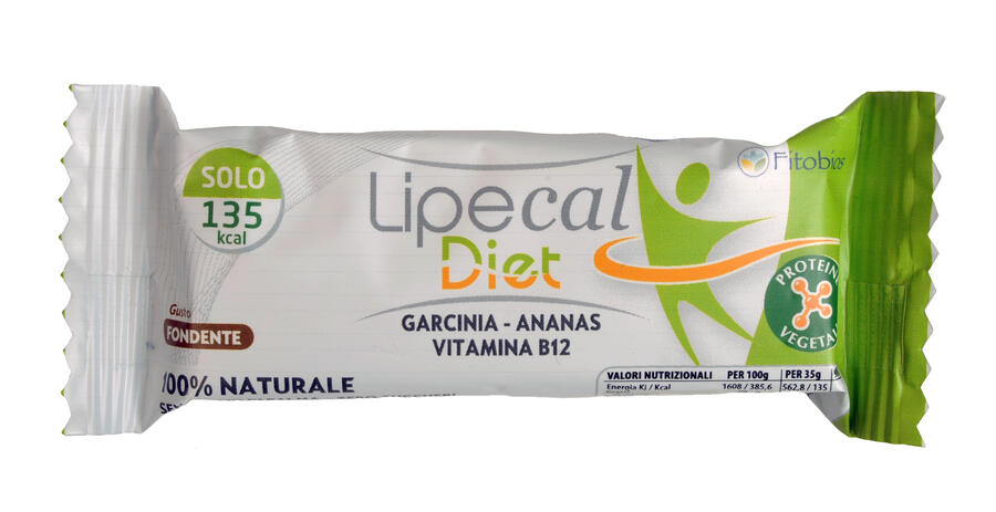 LIPECAL DIET - gustosa barretta funzionale al gusto fondente - 24 pz