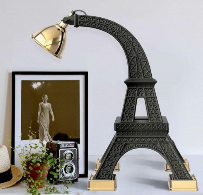 Lampada da Terra/Tavolo Paris di Qeeboo in Polietilene e Metallo, Varie Finiture - Offerta di Mondo Luce 24