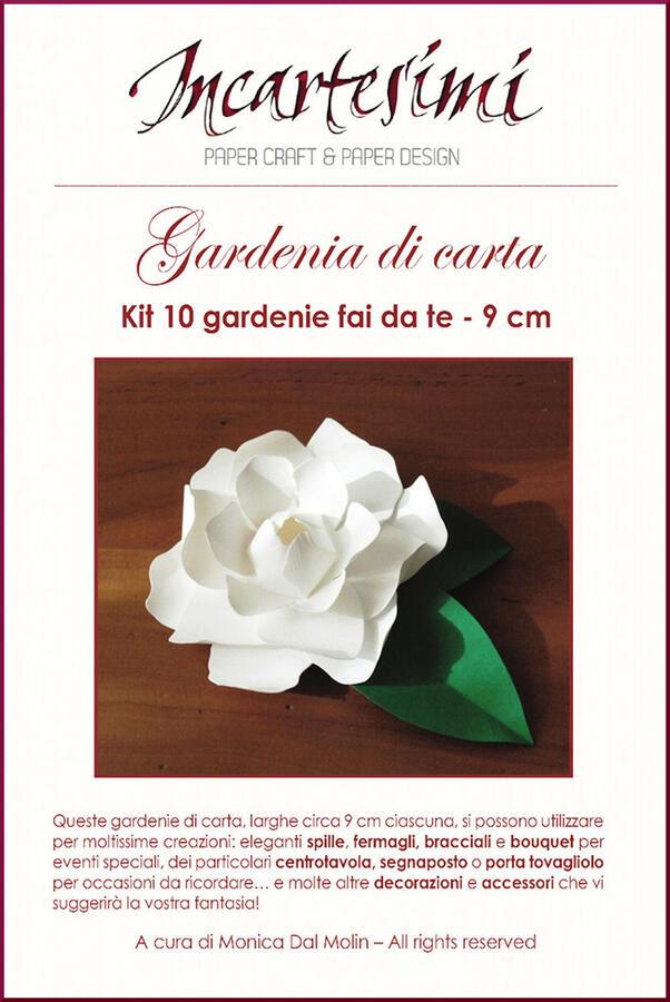 Kit fai da te gardenia di carta Ø 9 cm
