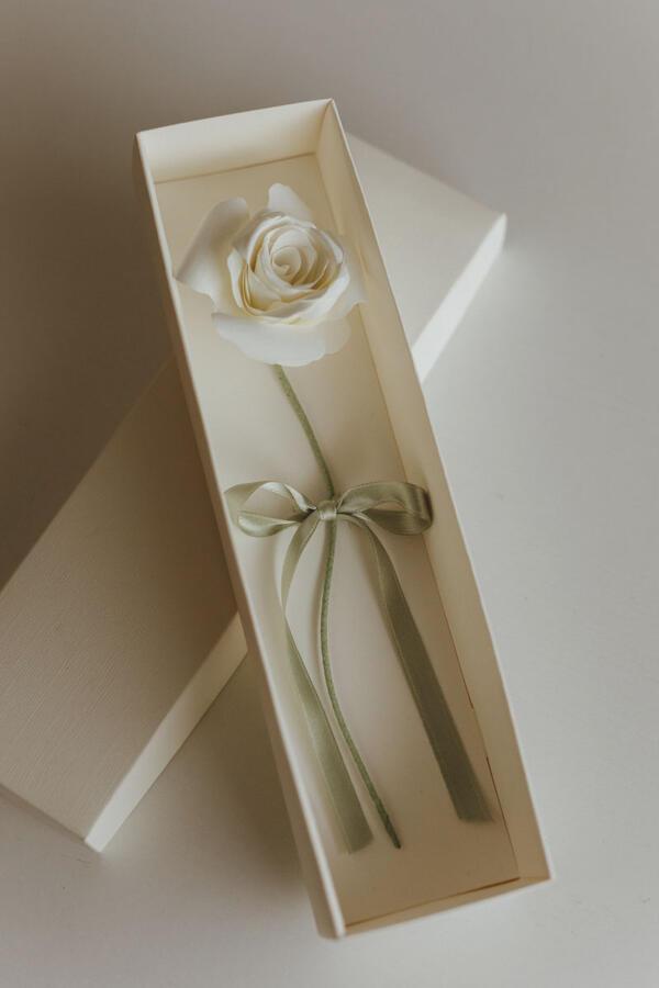 Rose di carta con stelo