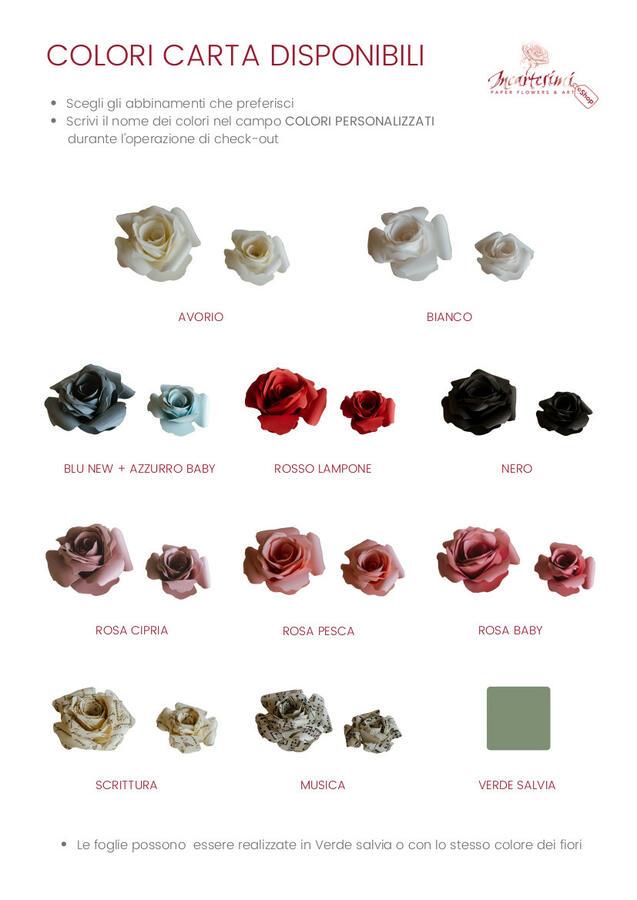Coroncina con rose e foglie di carta