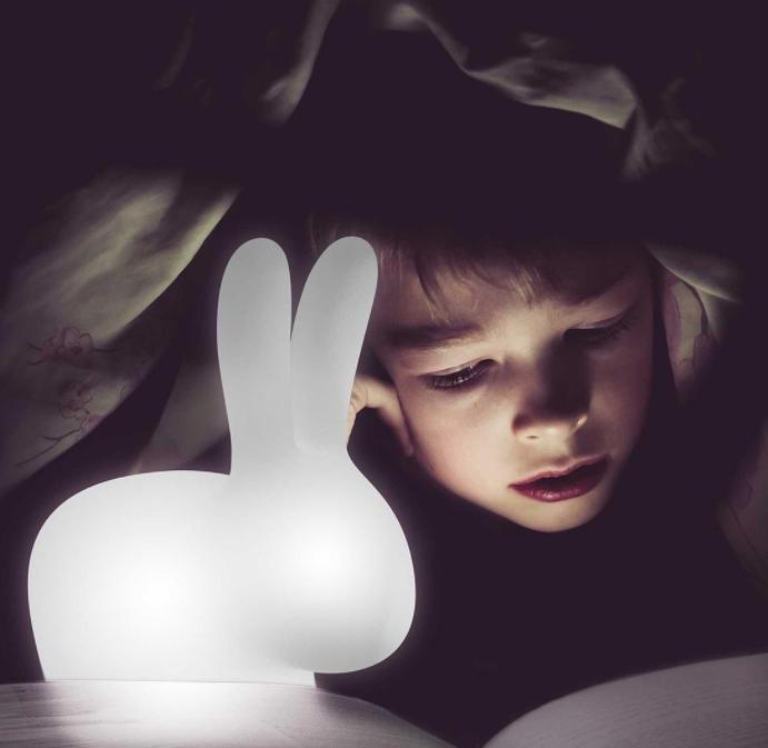 Lampada da Terra Rabbit Small in LED Ricaricabile di Qeeboo in Polietilene, Pronta Consegna - Offerta di Mondo Luce 24